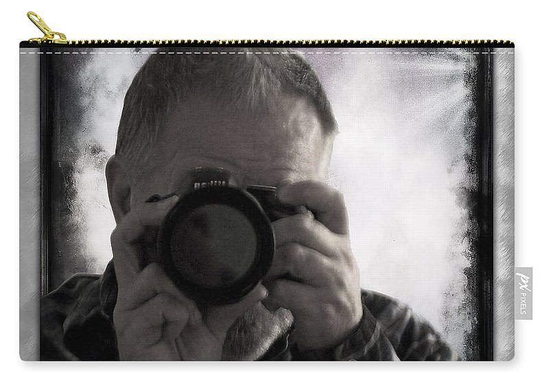 Walter Herrit Carry-all Pouch featuring the photograph Self - Portrait 1 by Walter Herrit