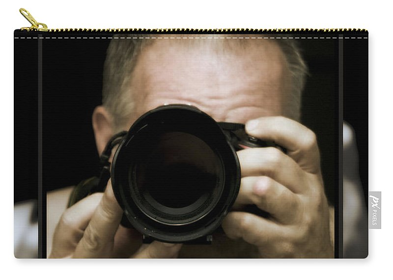 Self - Portrait Carry-all Pouch featuring the photograph Self - Portrait 3 by Walter Herrit