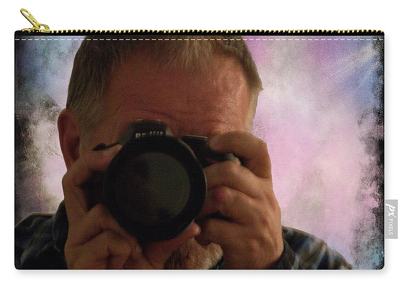 Self - Portraits Carry-all Pouch featuring the photograph Self - Portraits 2 by Walter Herrit