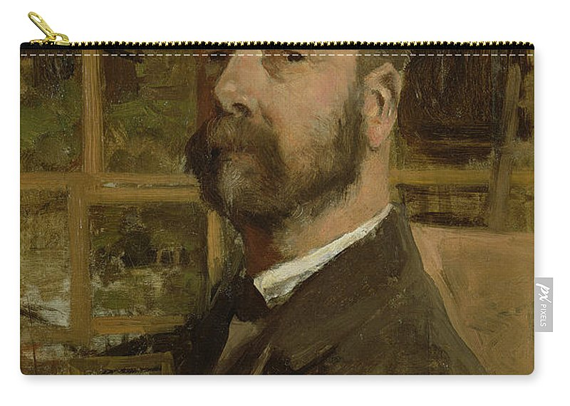 Haager Schule Carry-all Pouch featuring the painting Self Portrait, C.1884 by Anton Mauve