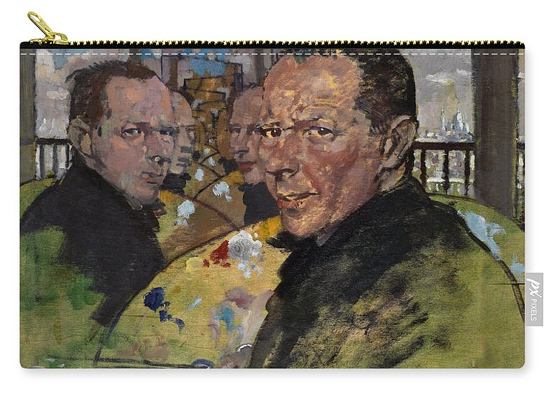 Male Carry-all Pouch featuring the painting Self Portrait, C.1924 by Sir William Orpen