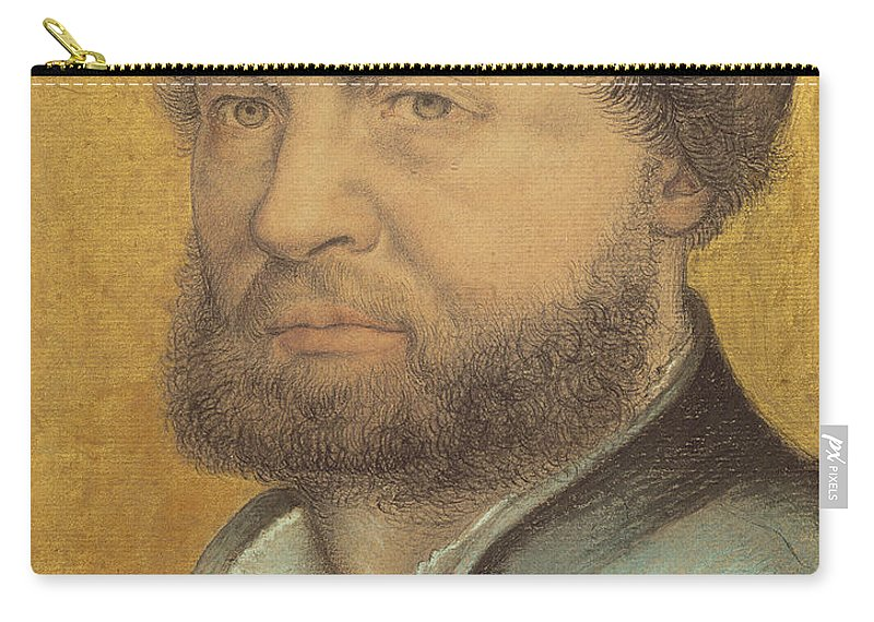 Holbein Carry-all Pouch featuring the pastel Self Portrait by Hans Holbein