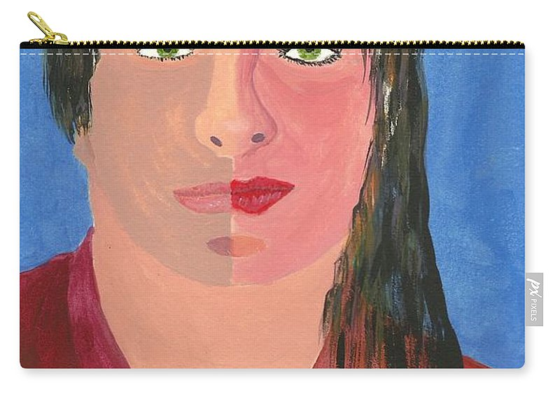 Self Portrait Carry-all Pouch featuring the painting Self Portrait by John Williams