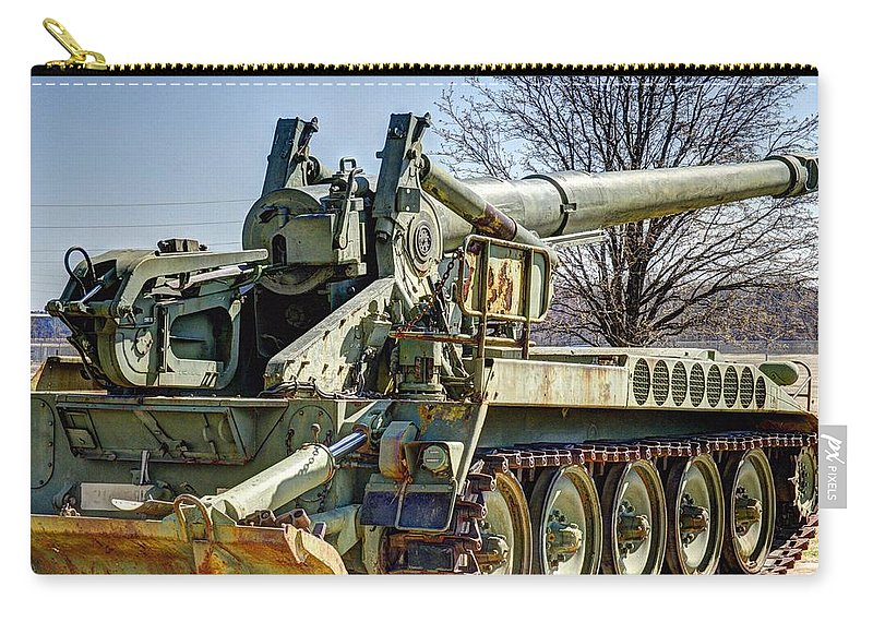 Hdr Carry-all Pouch featuring the photograph Self Propelled Gun 2 by John Straton
