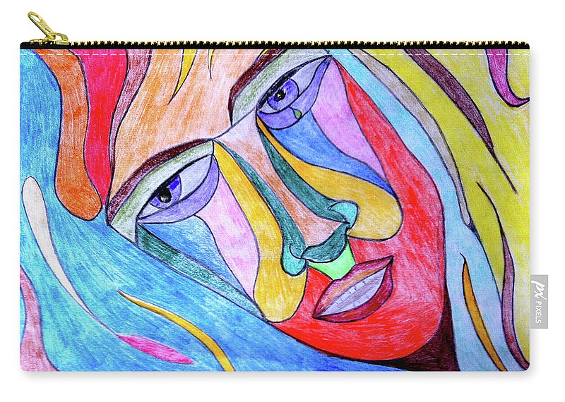 Self Carry-all Pouch featuring the drawing Selfless by Donna Blackhall
