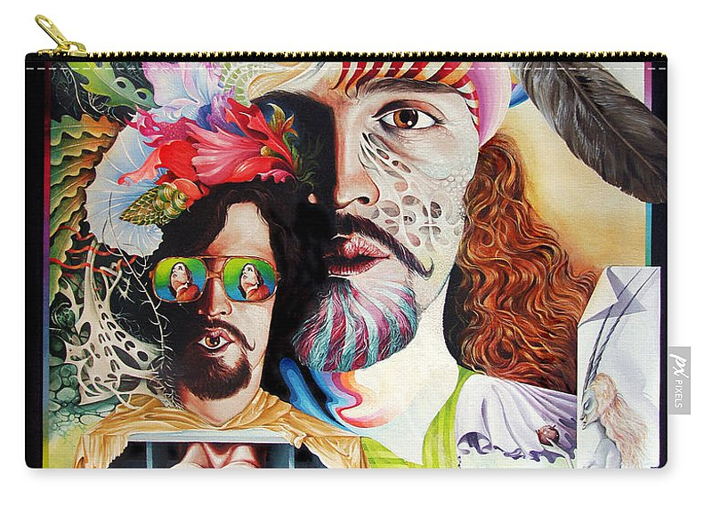 Surrealism Carry-all Pouch featuring the painting Selfportrait With The Critical Eye by Otto Rapp