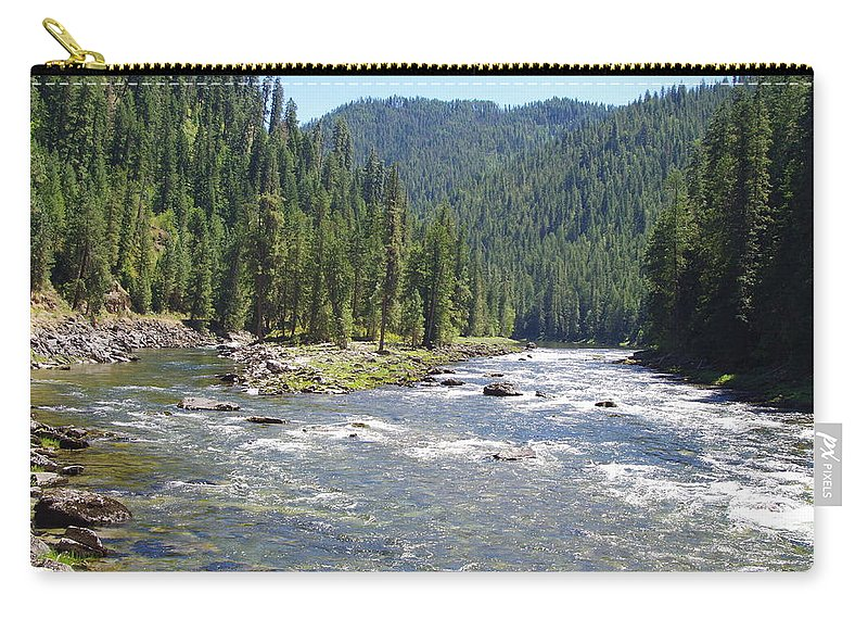 Water Falls Carry-all Pouch featuring the photograph Selway River by Mike Wheeler