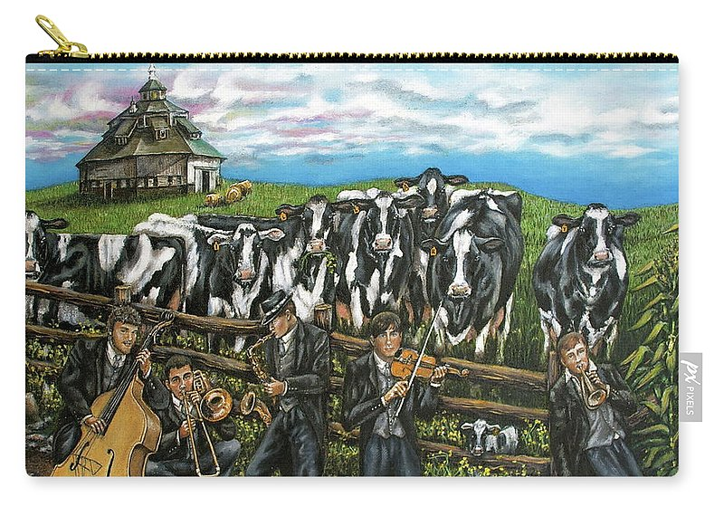 Linda Simon Carry-all Pouch featuring the painting Semi-formal by Linda Simon