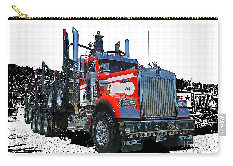 Trucks Carry-all Pouch featuring the photograph Semi Trucks Catr3120-13 by Randy Harris