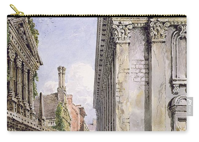 30 5 X 21 4cm Carry-all Pouch featuring the painting Senate House Passage, Cambridge, 1843 by Joseph Murray Ince