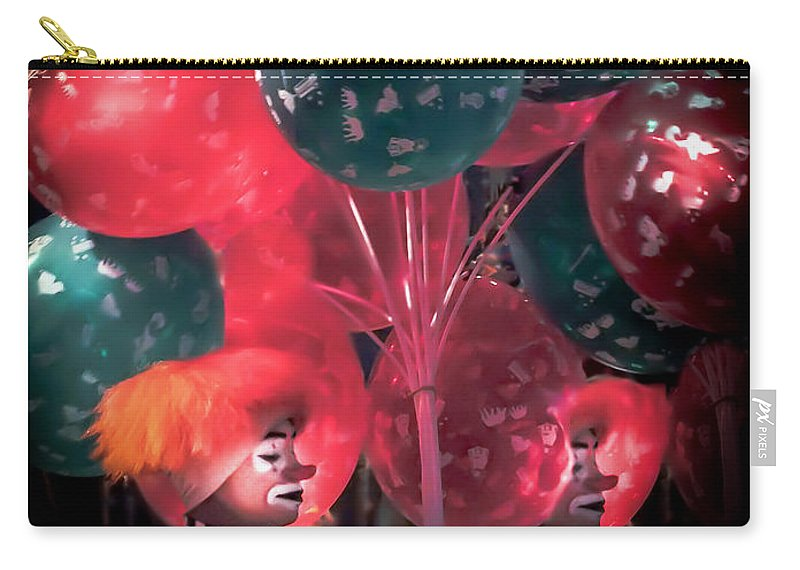 Clowns Carry-all Pouch featuring the photograph Send In The Clowns by Karen Wiles