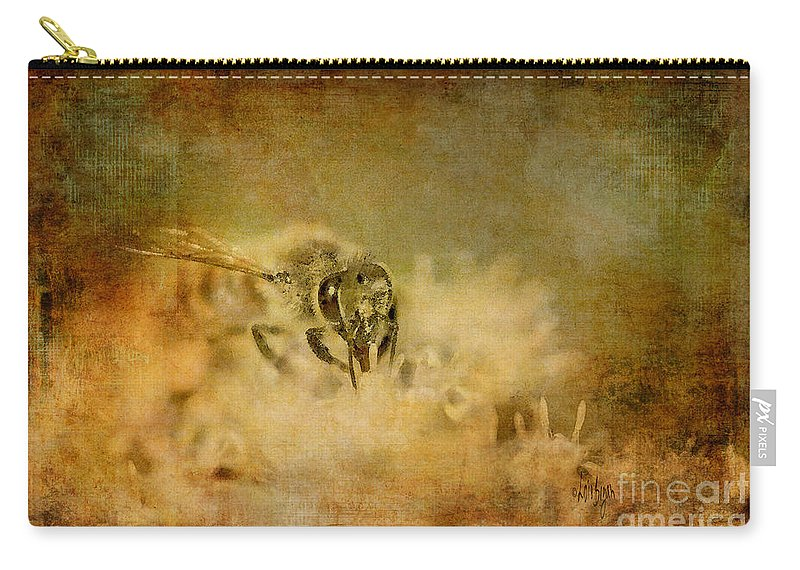 Bee Carry-all Pouch featuring the photograph Send The Bees Love by Lois Bryan