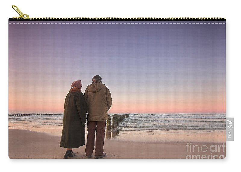 Abstract Carry-all Pouch featuring the photograph Seniors' Love And Ocean by Michal Bednarek