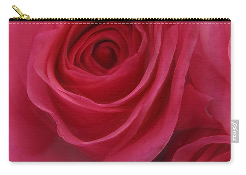 Sensual Rose Carry-all Pouch featuring the photograph Sensual Rose by Linda Sannuti