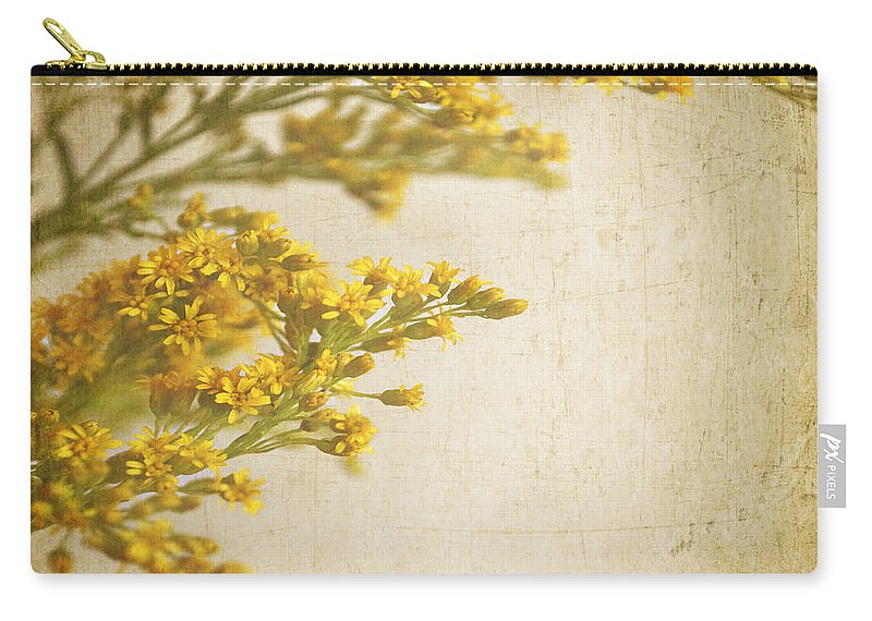 Square Format Carry-all Pouch featuring the photograph Sepia Gold by Lyn Randle