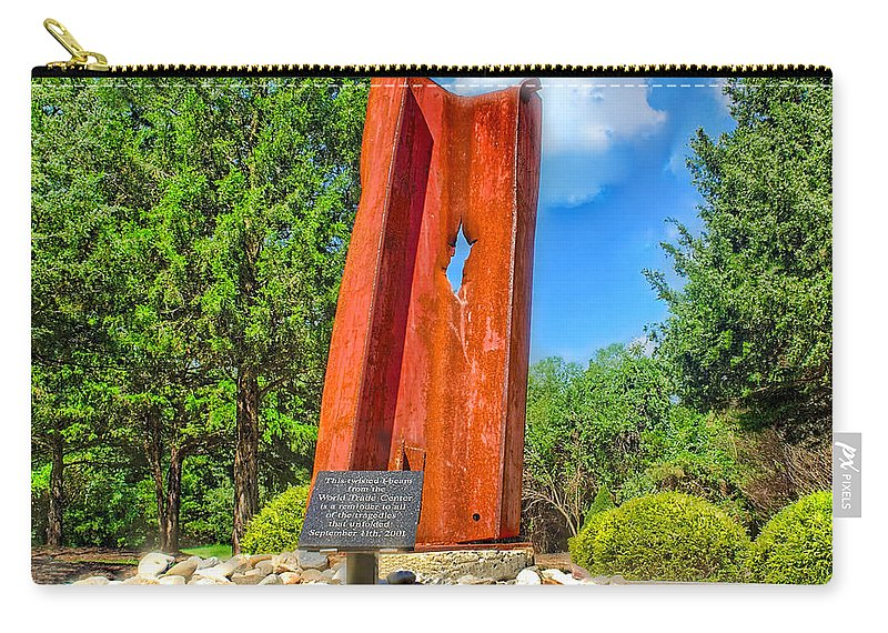 11 Carry-all Pouch featuring the photograph September 11th Memorial Mantua N J by Nick Zelinsky