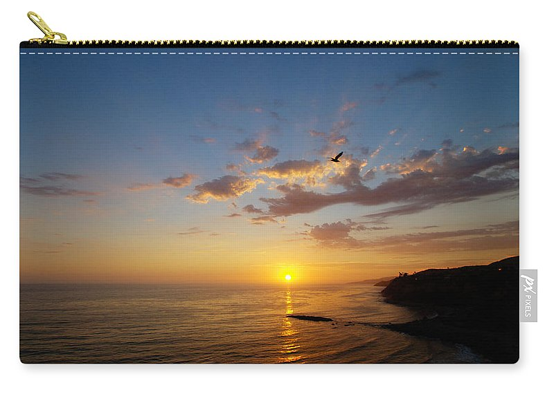 Sunset Carry-all Pouch featuring the photograph September Sunday Sunset by Joe Schofield