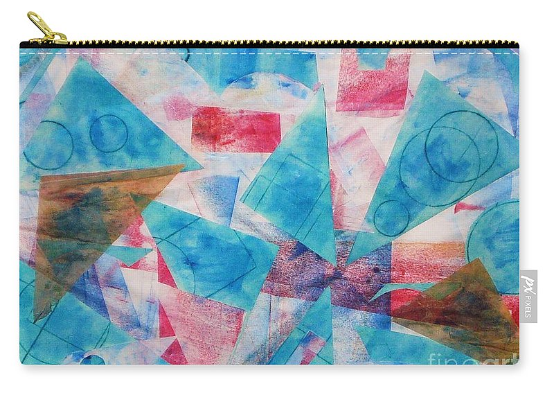 Collage Carry-all Pouch featuring the painting Serendipity by Yael VanGruber