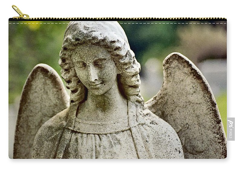 Stone Angel Carry-all Pouch featuring the photograph Serene by Gothicrow Images