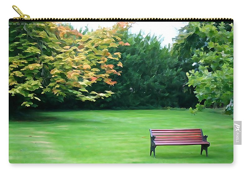 Bench Carry-all Pouch featuring the photograph Serenity by Charlie and Norma Brock