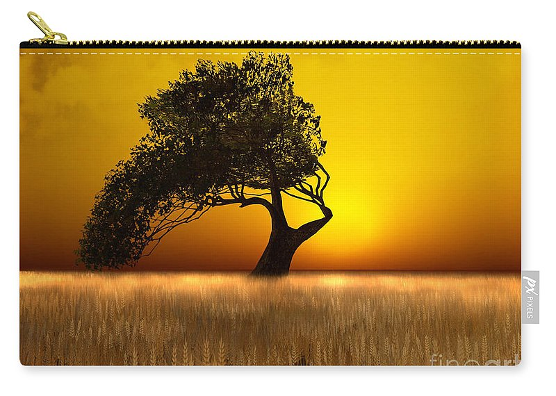 Nature Carry-all Pouch featuring the digital art Serenity by Carlotta Ceawlin