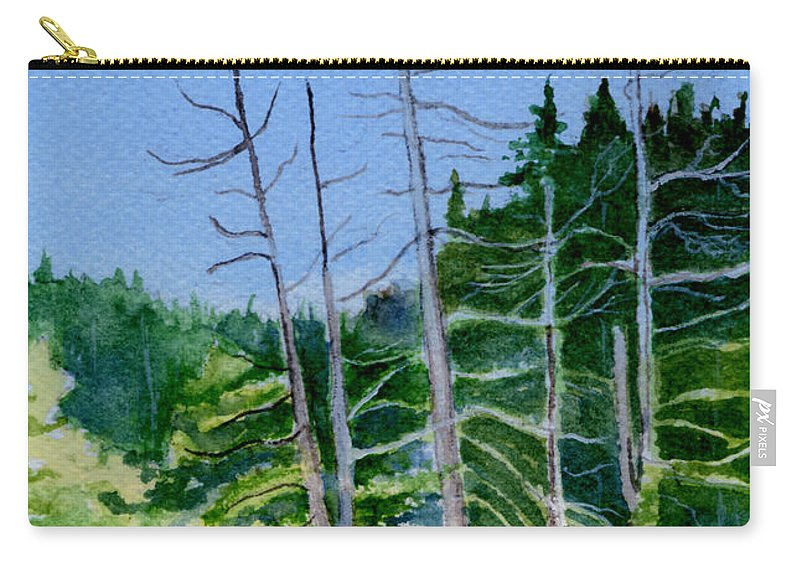 Landscape Carry-all Pouch featuring the painting Serenity On The Lake by Brenda Owen