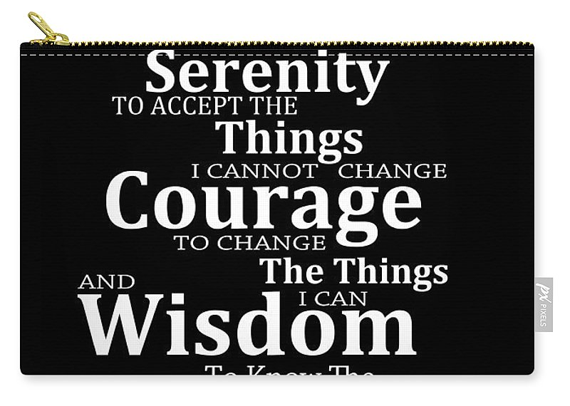 Serenity Prayer 5 - Simple Black And White Carry-all Pouch for Sale by  Sharon Cummings 1c37c12f76e0c