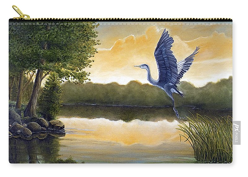 Rick Huotari Carry-all Pouch featuring the painting Serenity by Rick Huotari