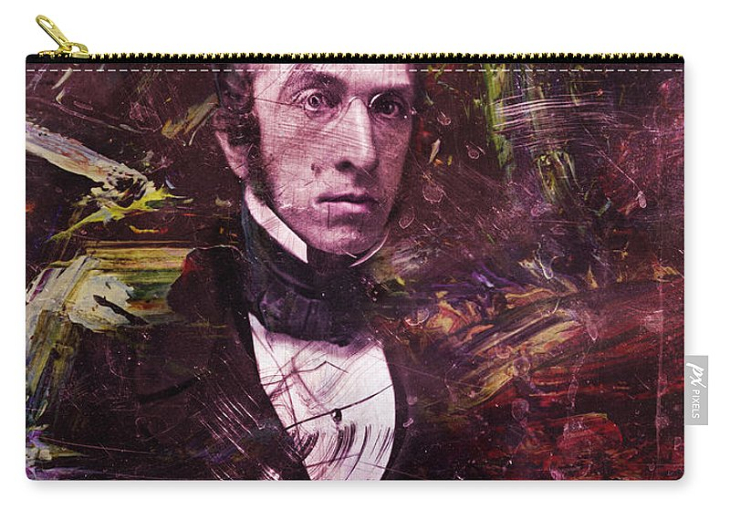 Historical Figure Carry-all Pouch featuring the painting Serious Fellow 1 by James W Johnson