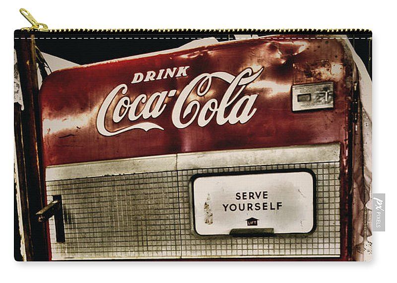 Coca-cola Carry-all Pouch featuring the photograph Serve Yourself by Toni Hopper