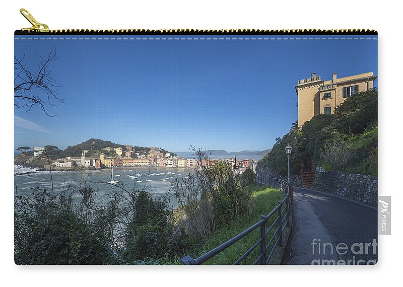 Village Carry-all Pouch featuring the photograph Sestri Levante And A Street by Mats Silvan