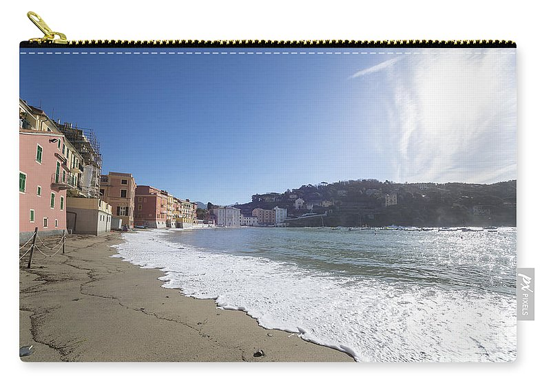 Village Carry-all Pouch featuring the photograph Sestri Levante With The Beach by Mats Silvan