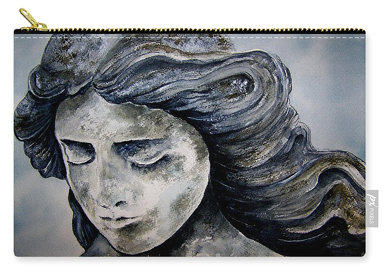 Stone Carry-all Pouch featuring the painting Set In Stone by Brenda Owen