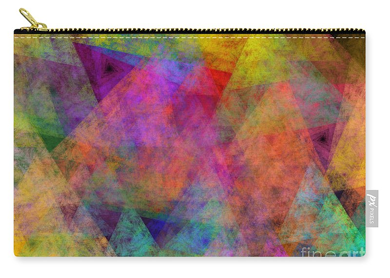 Andee Design Abstract Carry-all Pouch featuring the digital art Set Sails On The Open Sea Abstract by Andee Design