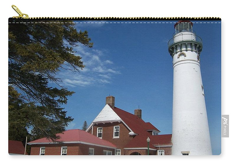 Lighthouse Carry-all Pouch featuring the photograph Seul Choix Lighthouse by Teresa McGill