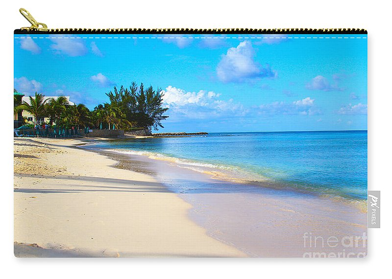 Seven Mile Beach Carry-all Pouch featuring the photograph Seven Mile Beach by Carey Chen