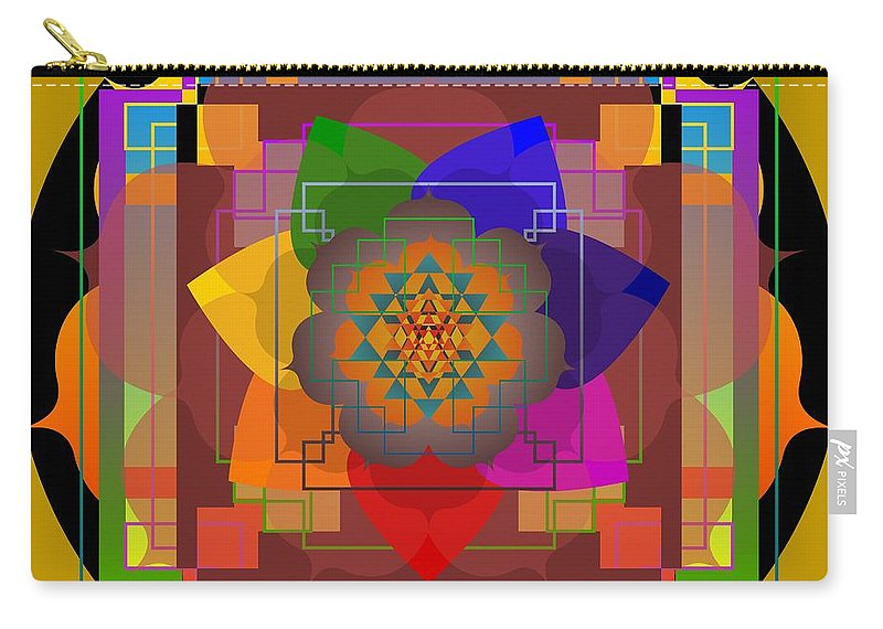 Digital Carry-all Pouch featuring the digital art Seven Rays Of Healing 2013 by Kathryn Strick