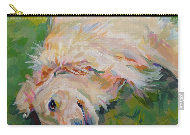 Golden Carry-all Pouch featuring the painting Seventh Inning Stretch by Kimberly Santini