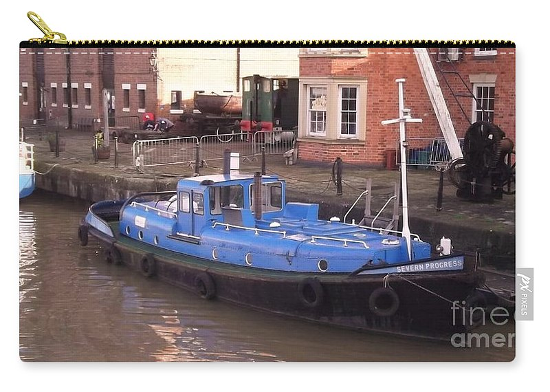 Severn Progress Carry-all Pouch featuring the photograph Severn Progress by John Williams