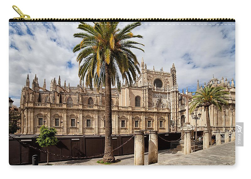 Spain Carry-all Pouch featuring the photograph Seville Cathedral In Spain by Artur Bogacki