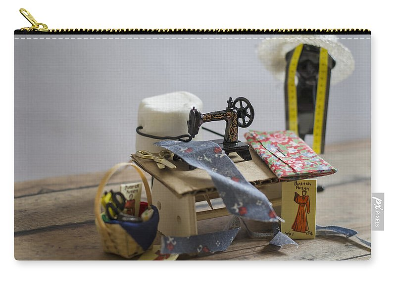 Sew Carry-all Pouch featuring the photograph Sew Sweet by Heather Applegate