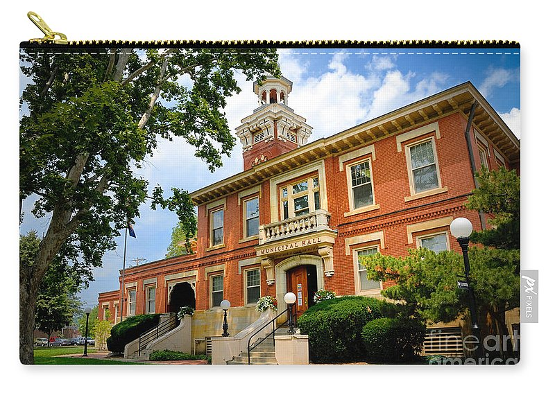 Allegheny County Carry-all Pouch featuring the photograph Sewickley Pennsylvania Municipal Hall by Amy Cicconi