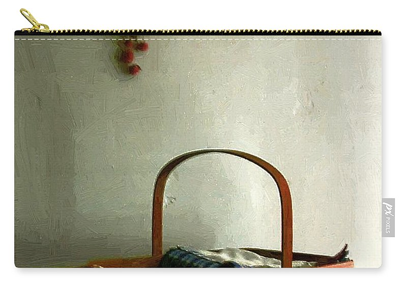 Americana Carry-all Pouch featuring the painting Sewing Basket In Sunlight by RC DeWinter