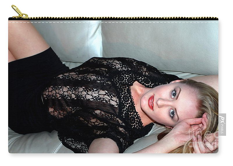 Woman Carry-all Pouch featuring the photograph Sexy Blonde by Henrik Lehnerer