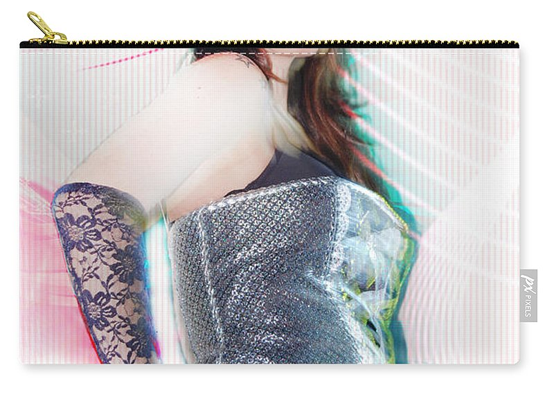 Sexy Carry-all Pouch featuring the digital art Sexy Girl On Moving by Gina Dsgn