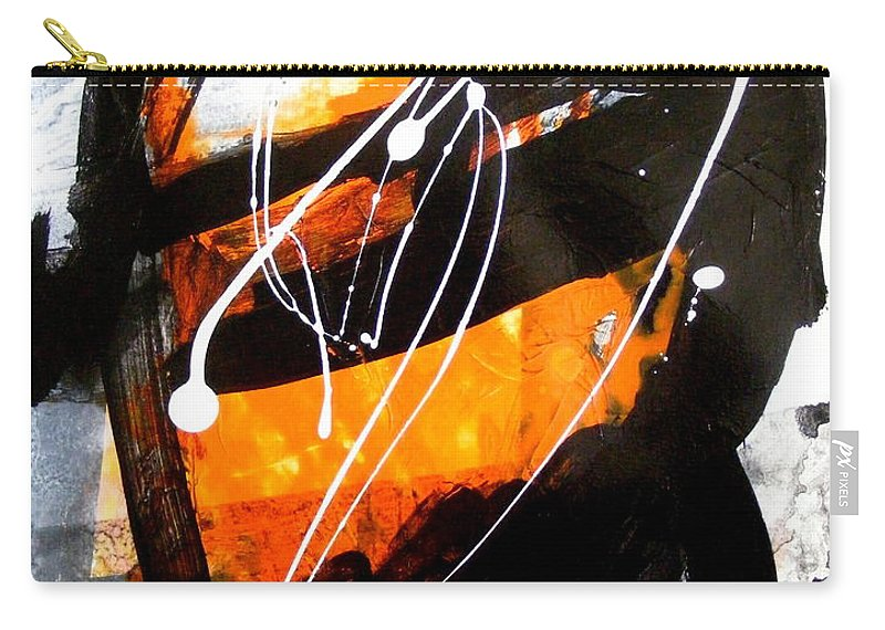 Contemporary Art Carry-all Pouch featuring the painting Shades Of Discourse 3 by Pearlie Taylor