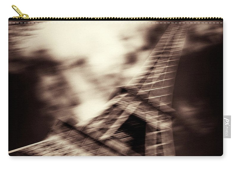Eiffel Tower Carry-all Pouch featuring the photograph Shades Of Paris by Dave Bowman