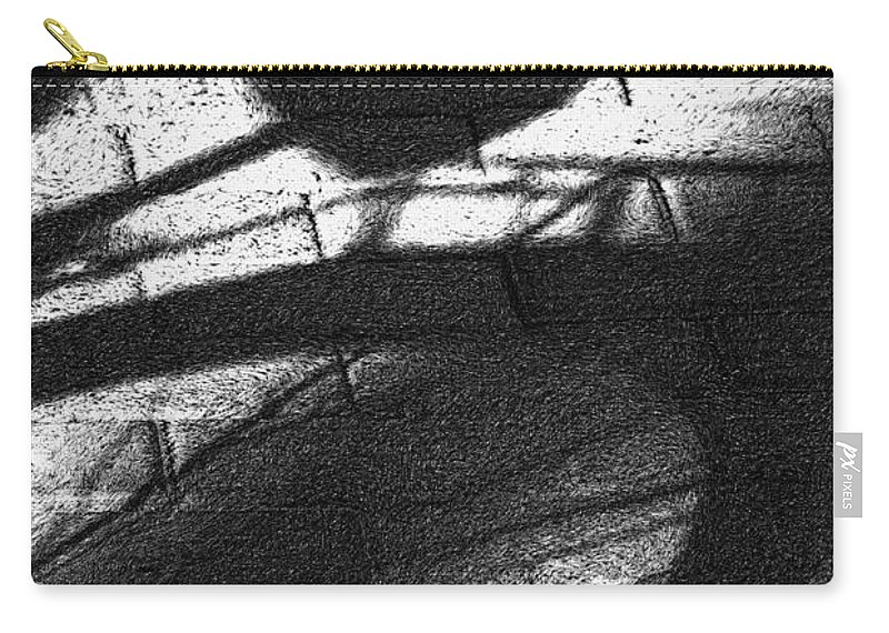 Bicycle Carry-all Pouch featuring the photograph Shadow Heart Advanced Pencil by David Lange