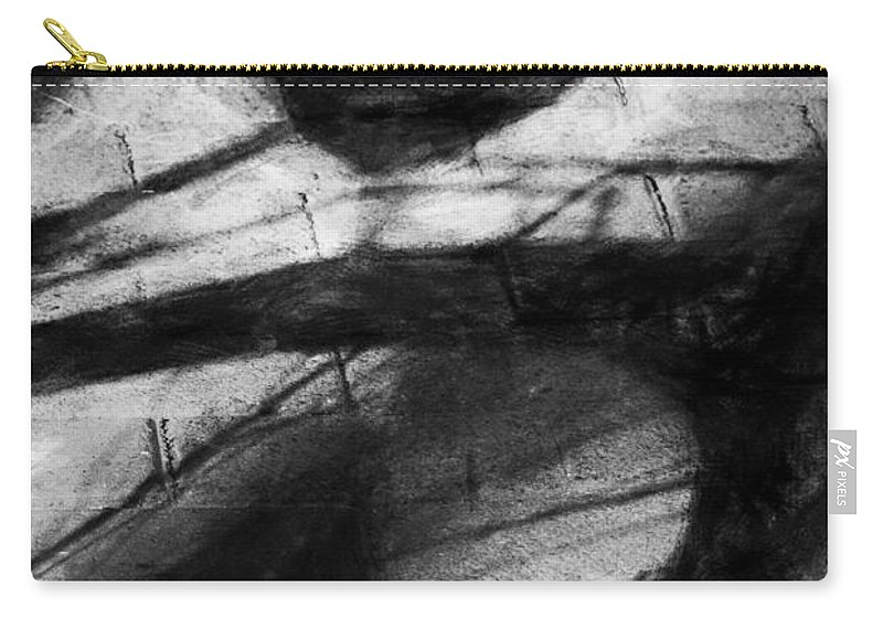 Bicycle Carry-all Pouch featuring the digital art Shadow Heart Rough Charcoal by David Lange