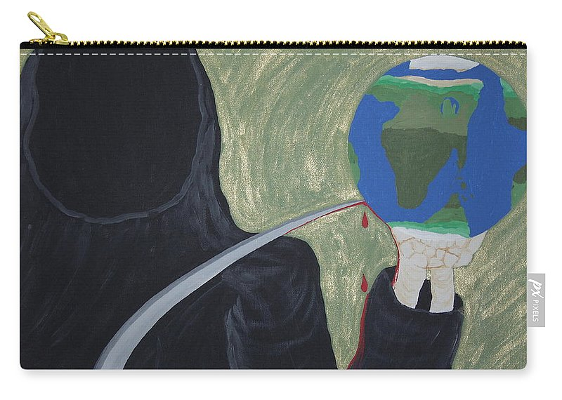 Painting Carry-all Pouch featuring the painting Shadow Of Fear by Dean Stephens
